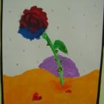 Έργα τέχνης μαθητών στο διάδρομο
